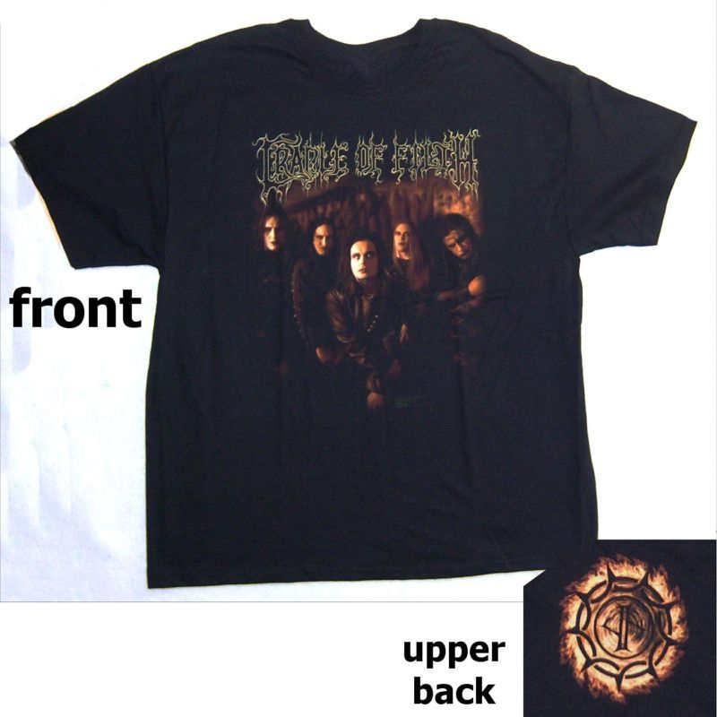 """Billiger Preis Sommer Kleidung Rundhalsausschnitt Cradle Of Filth """"warmes Glühen"""" Dani Band Pic Logo T Shirts Für Männer"""