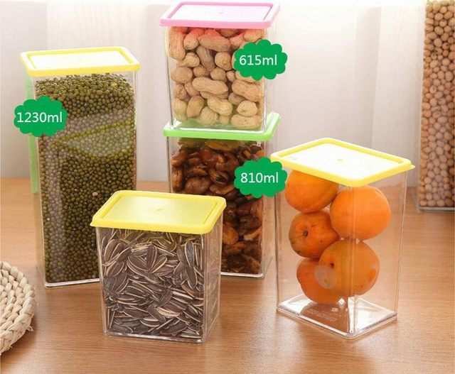 256ba824ed2d Online Shop Plastic Food Storage Box Grain Container Kitchen ...