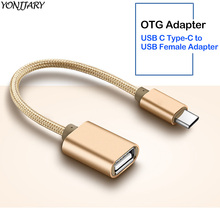 Type-C to USB 2.0 OTG Cable Data Converter for Samsung S10+ S10e Oneplus 7 USB C OTG Adapter for Huawei Honor 10 20 P20 P30 Pro
