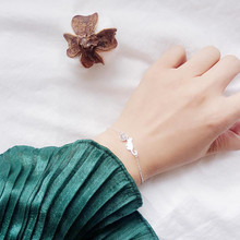 LUKENI Latest Crystal Animal Female Bracelets Jewelry Charm Silver 925 For Girl Party Accessories Cute Cat Women Gift