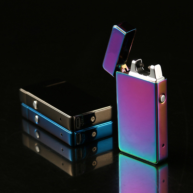 Rechargable USB Plasma Arc Lighter Electronic Metal Windproof Pulse Cigarette Lighters Gift Smoking Gadget
