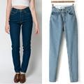 1 PC Calça Jeans de Cintura Alta Mulher Vintage Boyfriend Jeans Para As Mulheres Denim Calças Calças De Brim Femme ZZ3485 Calca Calça Jeans Feminina