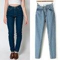 1 UNID Boyfriend Jeans Para Mujeres Pantalones Vaqueros de Cintura Alta Mujer de La Vendimia de Mezclilla Pantalones Vaqueros Calca Jeans Feminina Femme ZZ3485