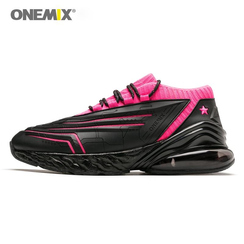 Femmes chaussures de course-ONEMIX 270 cuir Air supérieur amorti doux semelle intermédiaire chaussures décontracté de plein Air Max EU 40