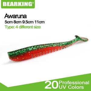 BEARKING Baits-Tackle Wobblers Artificial-Baits Shad Soft-Lures Fishing Carp Silicone