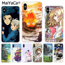 MaiYaCa Howl's Huilt Moving Castle Hot Gedrukt Cool Telefoon Accessoires case voor iPhone 8 7 6 6S Plus X XS max 10 5 5S SE XR(China)