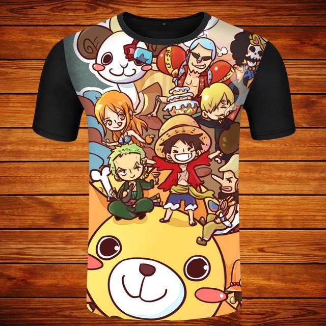 One Piece Ro Ro Noa Zoro Casual O-neck Men's T-Shirt