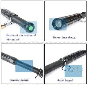 Image 5 - Police Flashlight CREE Q5 2000LM Baton Tactical Led Flashlight Long Mace Lamp Torch 3 Modes Self Defense By 18650
