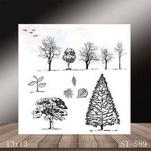 ZhuoAng Beautiful big tree Transparent seal / sealed DIY scrapbook album decoration card seamless