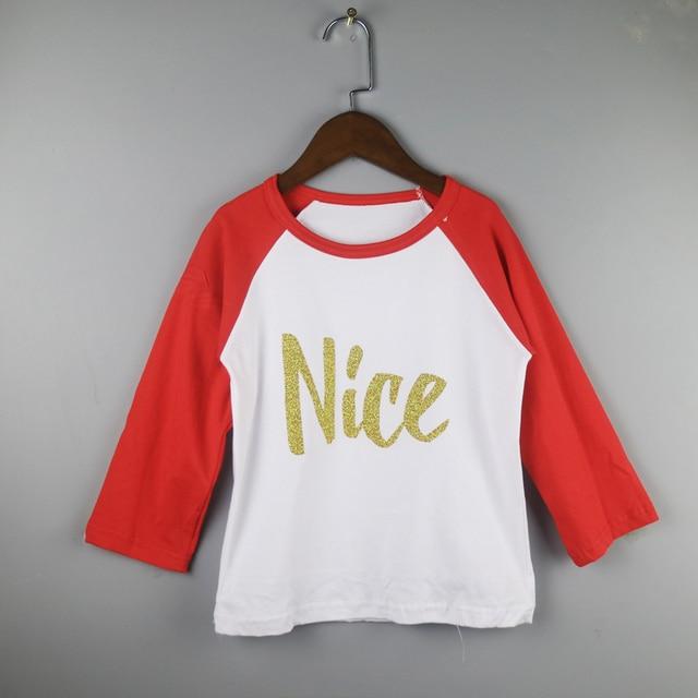 girls raglan shirt red girl christmas shirts full sleeve shirt - Christmas Shirts For Girls