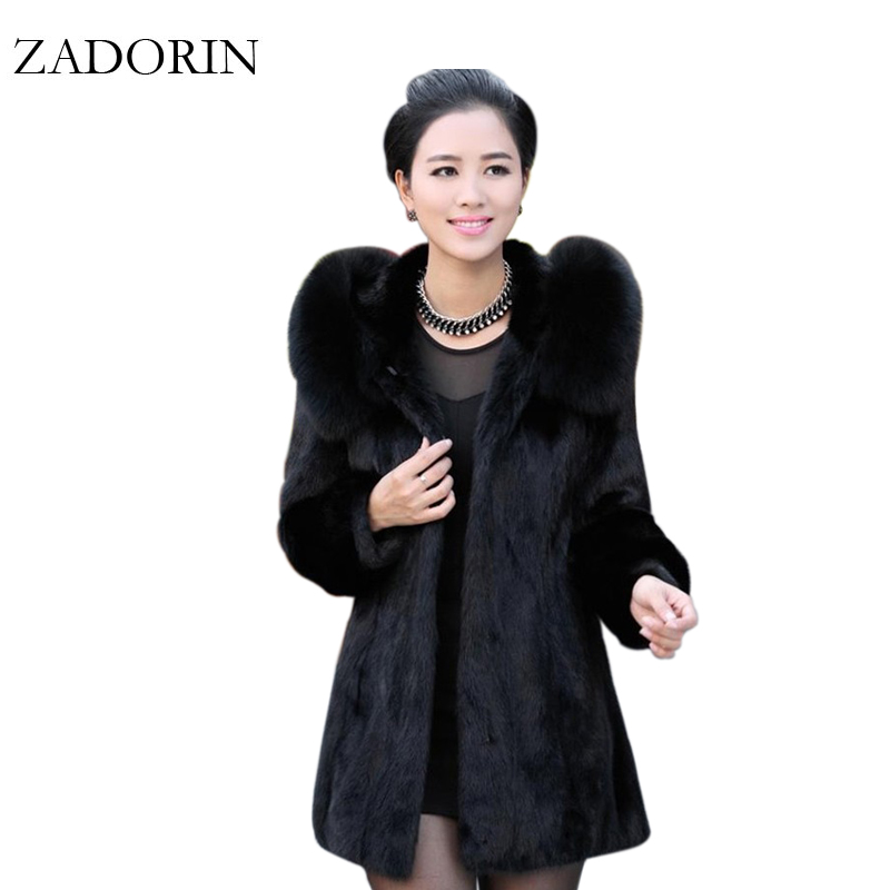 4XL Women Winter Coat 2019 Fashion Casual Warm FAUX Fur Coat Hooded High Quality Plus Size Ladies Fur Jackets Black Overcoat
