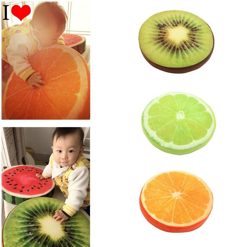 Heb Een Onderzoekende Geest Leuke Fruit Ontwerp Couch Stoel Bed Sierkussen Ronde Zachte Pluche Kussen Seat Pad Matige Prijs