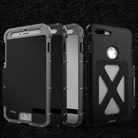 2019 Robot Aluminum Armor Anti fall Case For iPhoneX XR XS XS MAX Military Material Camouflage Flip Cover For iPhone8 7 6s Plus