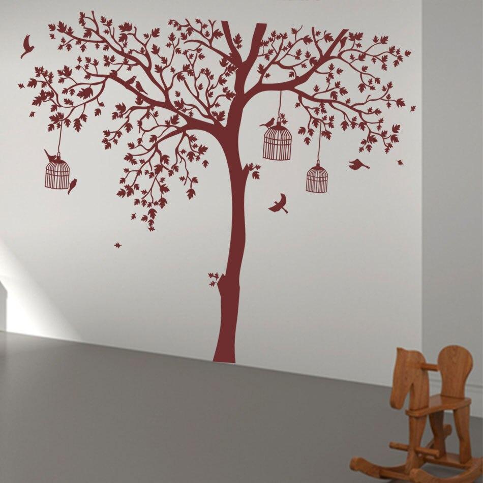 Aliexpress Buy Bird Cage Tree Nursery Wall Stickers Removable