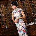 S-3XL Chinese Womens Silk Cheongsam Vintage Floral Long Qipao China Oriental Dresses Lady's Traditional National Wind Cheongsams