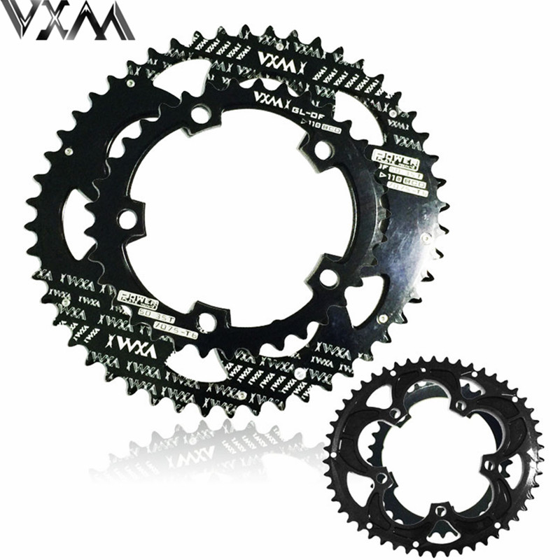 VXM 110BCD 50/35T 700C Road Bike Bicylcle 7075-T6 Alloy Oval Chainwheel Kit Ultralight Ellipse Climbing Power Chain Plate Set