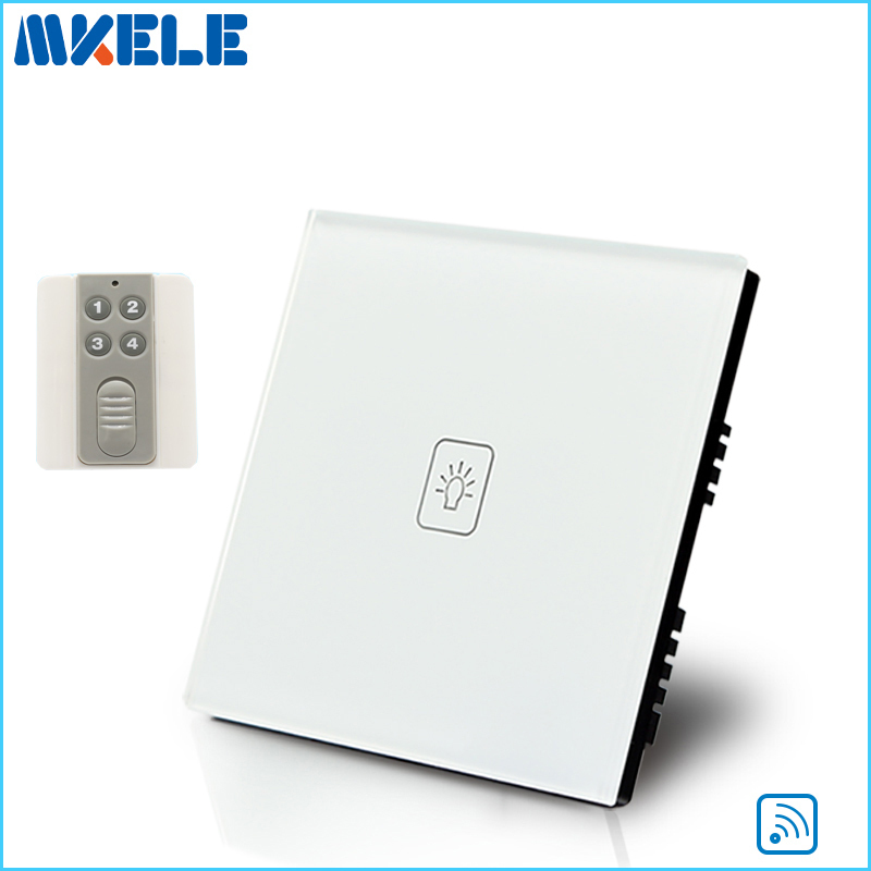 New Arrivals Remote Touch Wall Switch UK Standard 1 Gang 1way RF Control Light Crystal Glass Panel China new arrivals remote touch wall switch uk standard 1 gang 1way rf control light crystal glass panel china