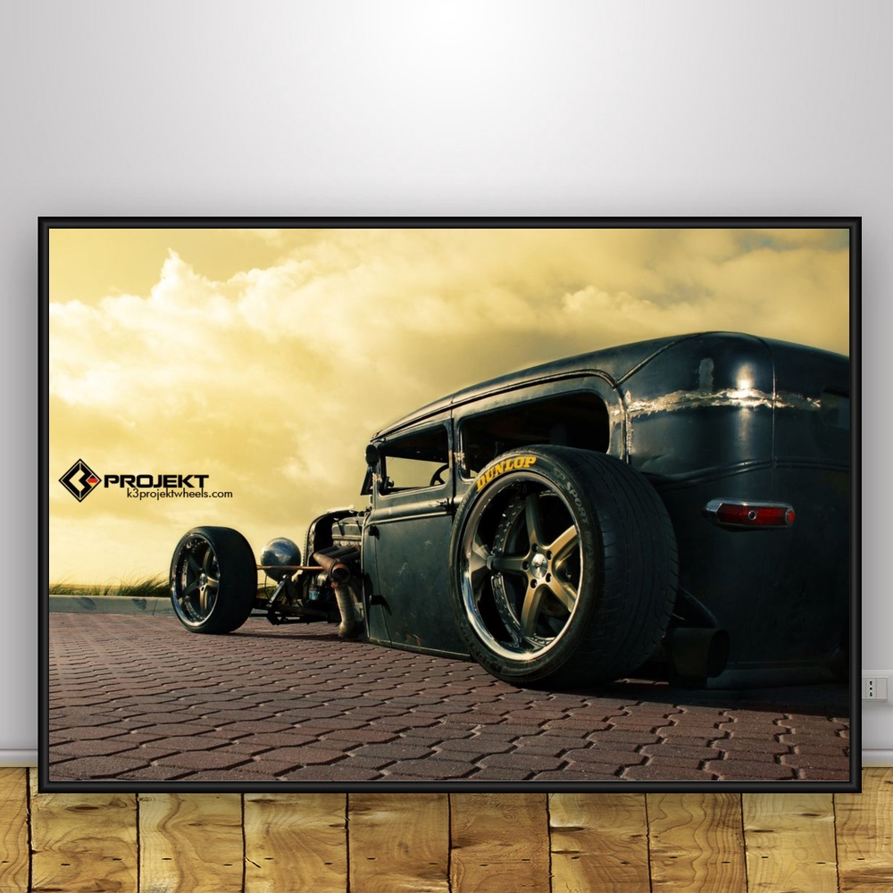 Hot Rods Car Vintage Art Silk Poster 12x18 24x36 inches