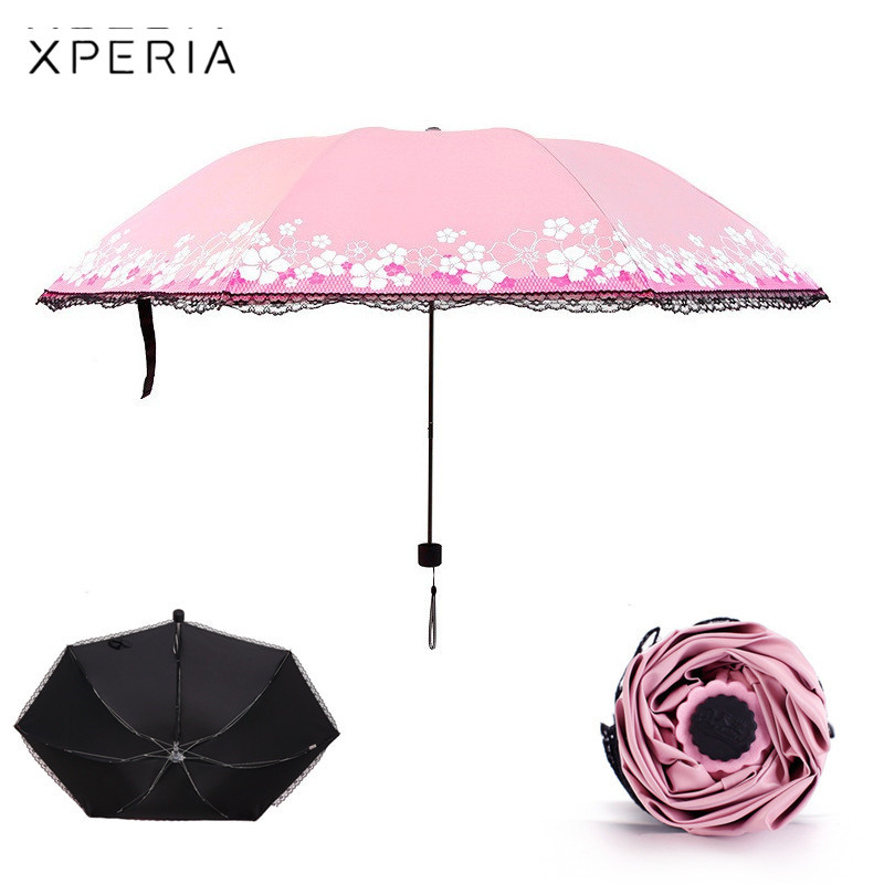Lolita Double-layer Lace Sunscreen Umbrella Long Ultraviolet-proof