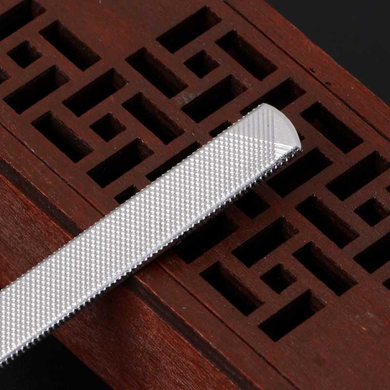 In Acciaio Inox Chiodo Buffer di File Portatile Nail Push Spoon Remover 13 cm di Strumenti per Manicure