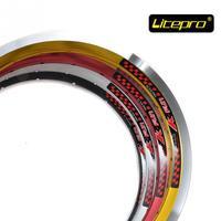 Litepro K fun 14 inch Folding Bike Wheels Rims 16 20 24 28 Holes BMX Bicycle Wheel for bya412 bt410