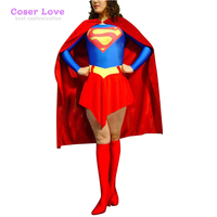 DC Superwoman Classic Red Cosplay Carnaval Costume Halloween Christmas Costume