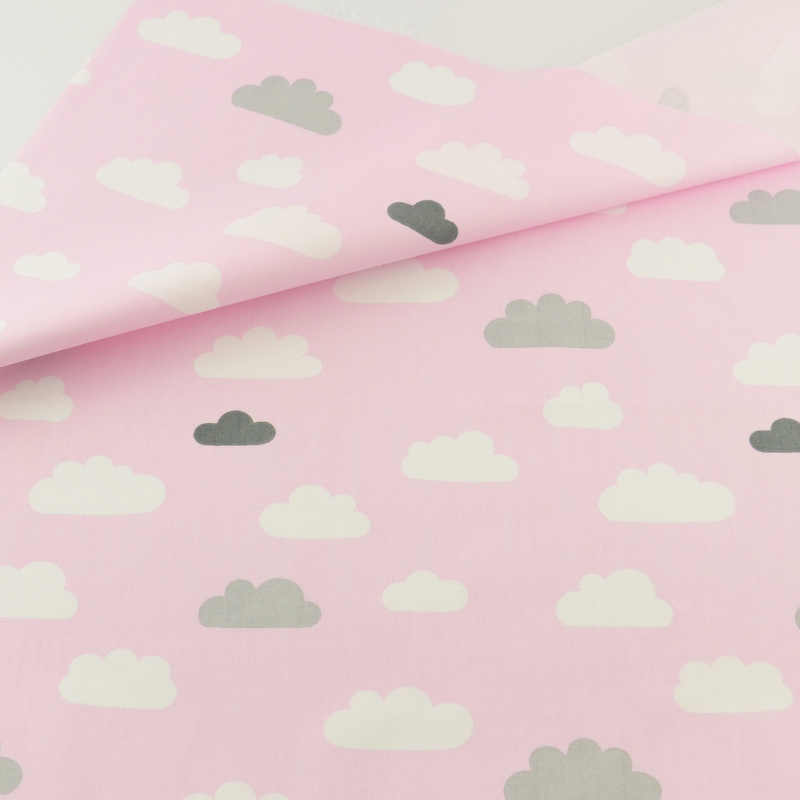 Decoration Tissue Home Textile Patchwork Sewing Cloth Craft Pink Cloud Cotton Fabric Quilting Bedding Teramila Fabrics Tecido