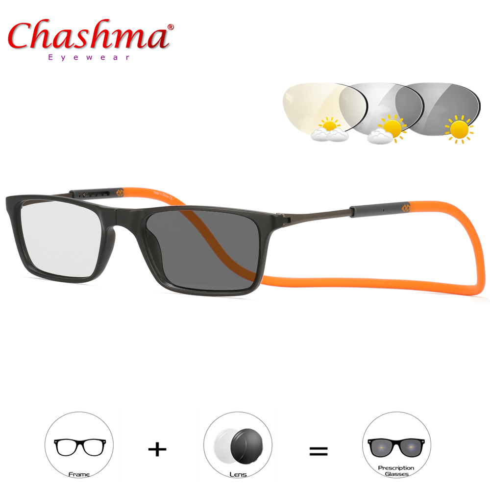 f699c531c9c New Design Magnets Folding glasses Photochromic Reading glasses Men Women  presbyopic Sunglasses color change and Diopter