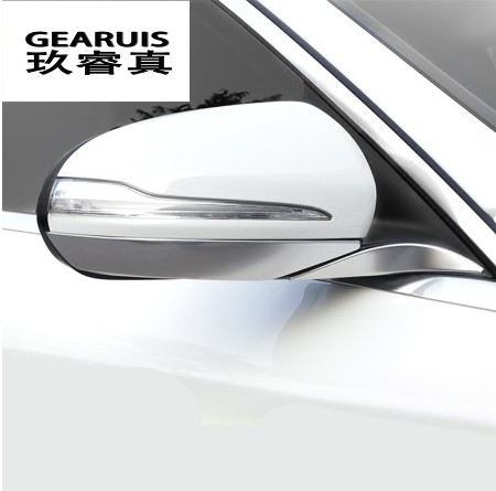 Car styling for Mercedes Benz C class W205 C180 C200 rearview mirror frame door mirror cover trim accessories auto sticker car center console dashboard speaker cover protection cover trim for mercedes benz c class w205 c180 c200 c260 glc class x253