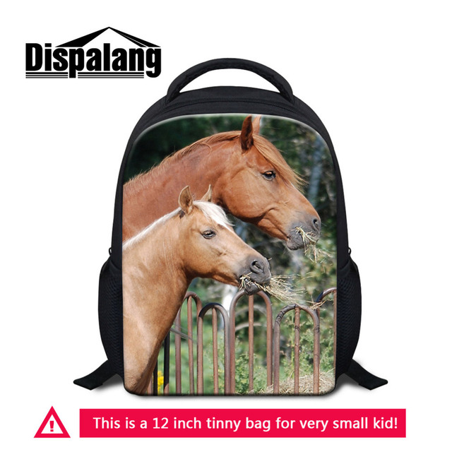 Dispalang 12 Inch Mini Backpack Horse Animal Print School Backpack  Kindergarten Small School Bag Kids Baby Shoulder Book Bag-in School Bags  from Luggage ... 0a5471ccbea3b