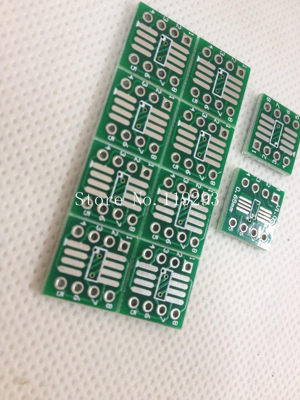 SMD test board DIP switch test socket SOP DIP op amp transfer switch DIP8 SOP8 converter board seat thickened--100PCS/LOT
