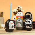 2pcs Cartoon uv toothbrush sanitizer Tumbler uv light sterilizer toothbrush holder bathroom accessories baby kids birthday gifts