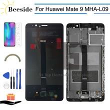 AA + Kalite LCD + Çerçeve Için Huawei Mate 9 MHA L09 MHA L29 MHA TL00 MHA AL00 LCD ekran dokunmatik ekranlı sayısallaştırıcı grup Değiştirin