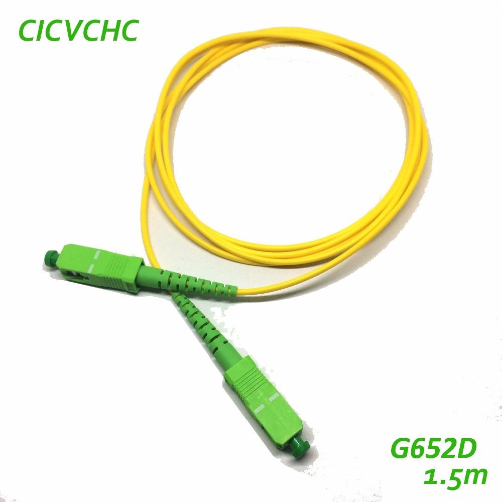 10st SC / APC-SC / APC-2.0mm-PVC-G652D-Yellow-1.5m Optisk Fiber - Kommunikationsutrustning - Foto 2