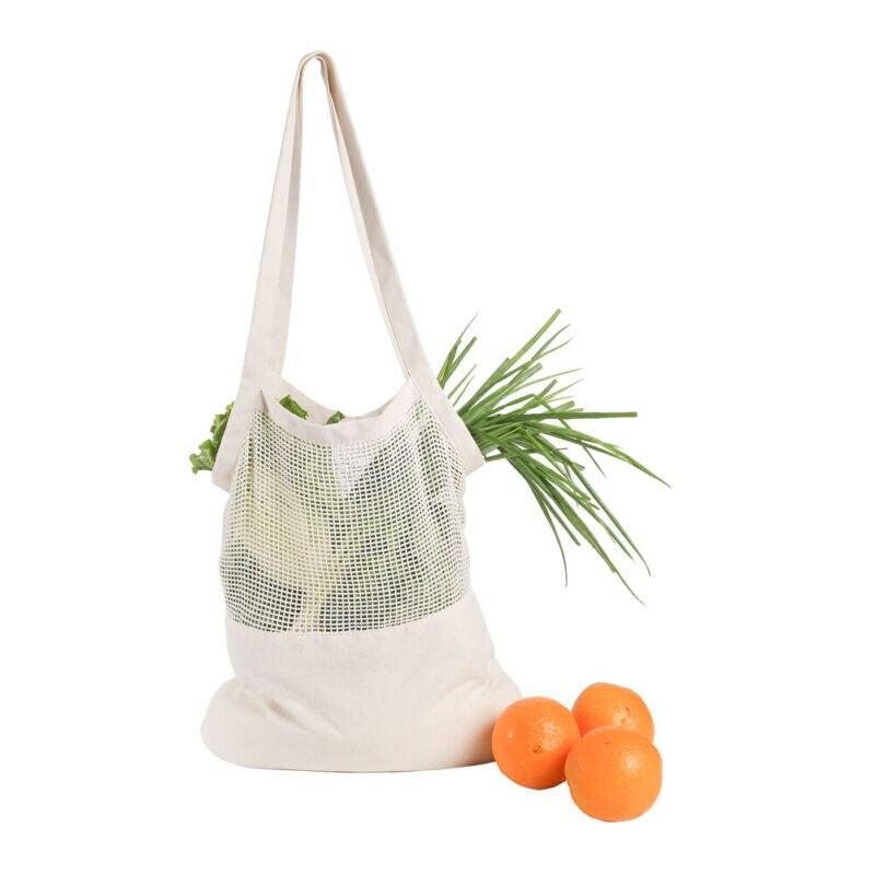 2019 sacs à main à usage spécial mode réutilisable coton maille fruits sac chaîne épicerie fruits stockage sac à provisions