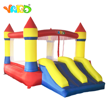 цена на YARD Children Inflatable Bouncy Castle 3.7x2.6x2.1M Trampoline Double Sides Play House with Blower Inflatable Bouncer Outdoors
