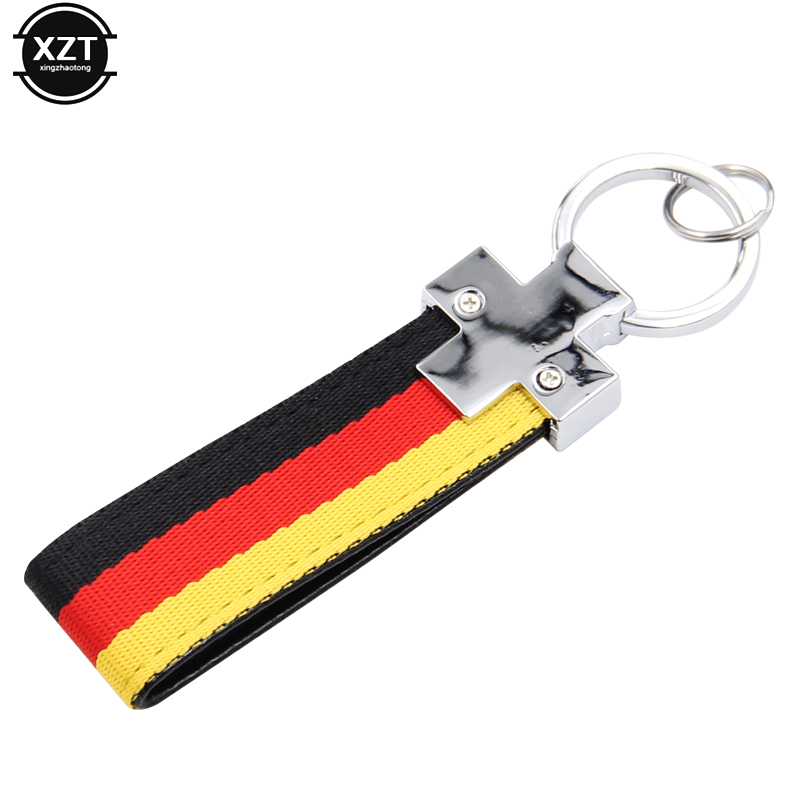 1pcs Car Key Rings Germany Flag Keychain For BMW M Tech M Sport 1 3 5 E36 E37 E46 E39 E53 E60 E90 X5 X6 Styling Hot Sale