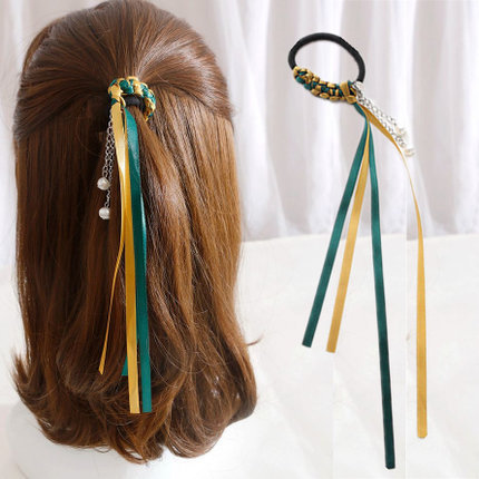 2pcs/lot Korean Style Women Hair Accessories hand made Pearls Beads Headbands Gum for Hair Scrunchie Ponytail Elastic Hair Band new fashion korean elastic hair ring flower hair rope cloth headbands hair accessories for women