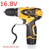 Tow Speed Selection 16 8V Cordless Electric Drill Waterproof Electric Drills Screwdriver Power Tool With Rechargeable