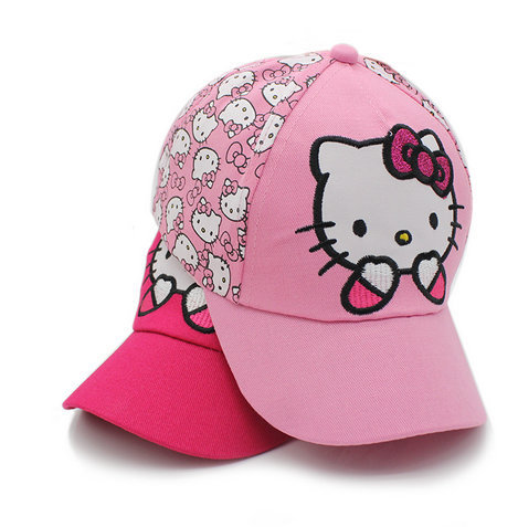 2018 KITTY Hat New snapback Summer Baseball Cap Kids Baby Girls Adjustable  Caps Fashion hello kitty 3249fbbe56d