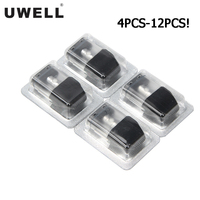 Cartucho Uwell Caliburn Pod, atomizador de llenado superior, 2ML, 1,4 ohm, para cigarrillo electrónico, vaporizador, 4 Uds.-12 Uds.