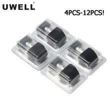 Uwell – cartouches de dosette Caliburn 2ML 1,4 ohm, 4 à 12 pièces, atomiseur de remplissage supérieur pour Cigarette électronique