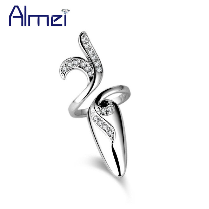 Almei 5% Engagement 8 Pcs Style Nail Gold Color Rings For Women Adjustable Finger Ring Female Ladies Jewelry Dropshipping SZ285