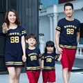 Свободного покроя семьи соответствующие наряды семья одежда и детская одежда родитель - ребенок семья установить матери и дочери / сына одежды CH57