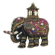 Strass Animais Elefante do vintage Grandes Broches Pinos Moda Mulheres Corsage Acessórios Do Casamento Presente Da Jóia Criativa XZ028
