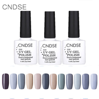New Fashion Gray Series 10ML Nail Polish Long Lasting Colorful UV Gel Glitter Nail Polish Lacquer Nail Gel Sets 12 Bottles/Set