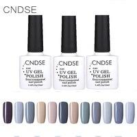New Fashion Gray Series 10ML Nail Polish Long Lasting Colorful UV Gel Glitter Nail Polish Lacquer Nail Gel Sets 12 Bottles/Set