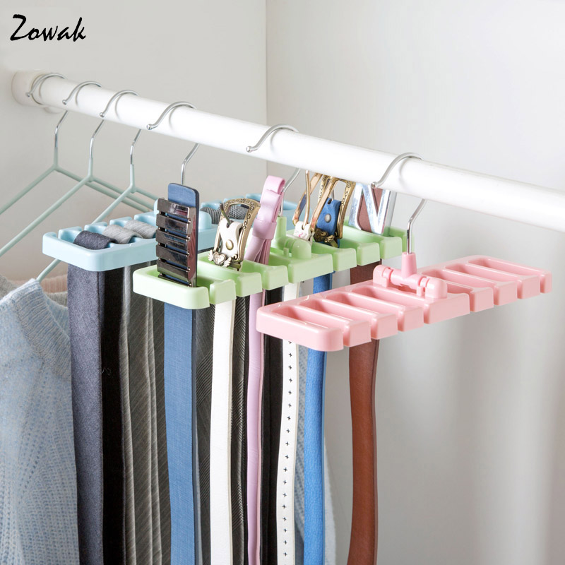 Storage Rack Tie Belt Organizer Space Saver Rotating Scarf