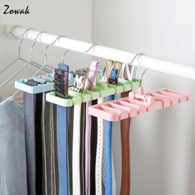 Storage Rack Tie Belt Organizer E Saver Rotating Scarf Ties Hanger Holder Hook Closet Organization Tank