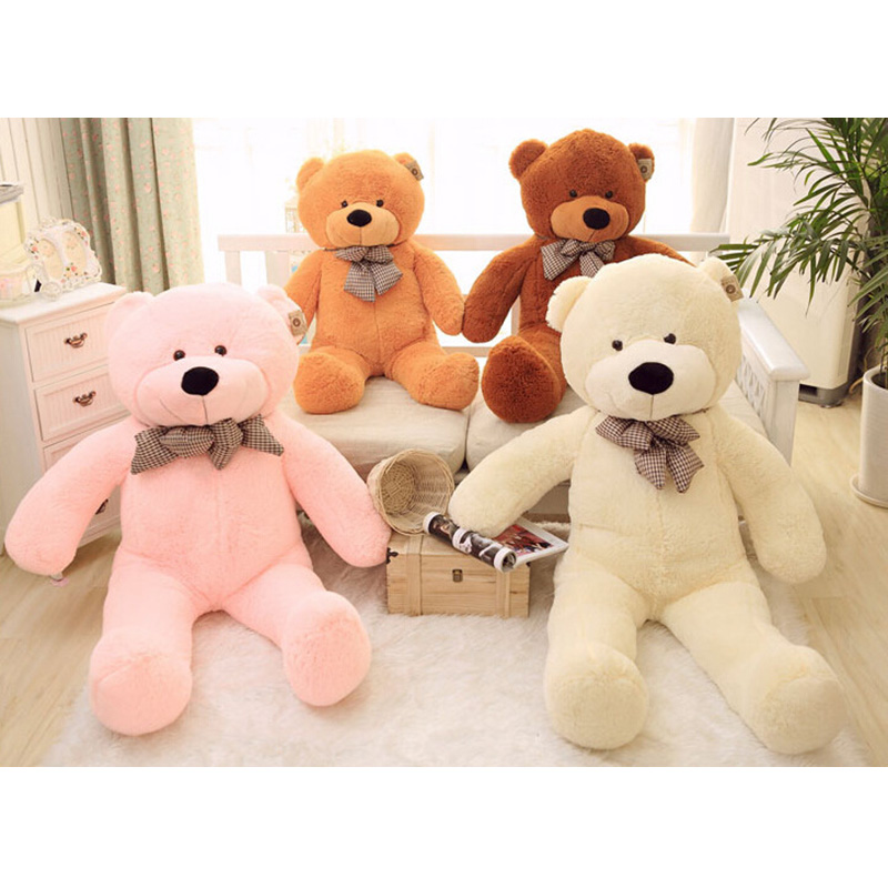 Wholesale 160cm/180cm Mini 5Color Stuffed Animals Bear Plush Toys Large Teddy Bear Skins Birthday Baby Christmas Gift